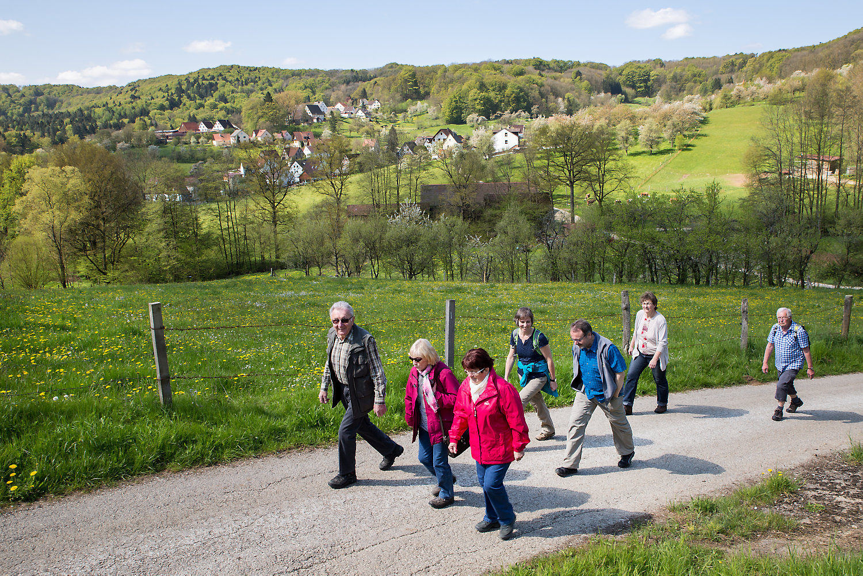 Wanderung von Oberkrumbach nach Kleedorf - Blick auf Oberkrumbach