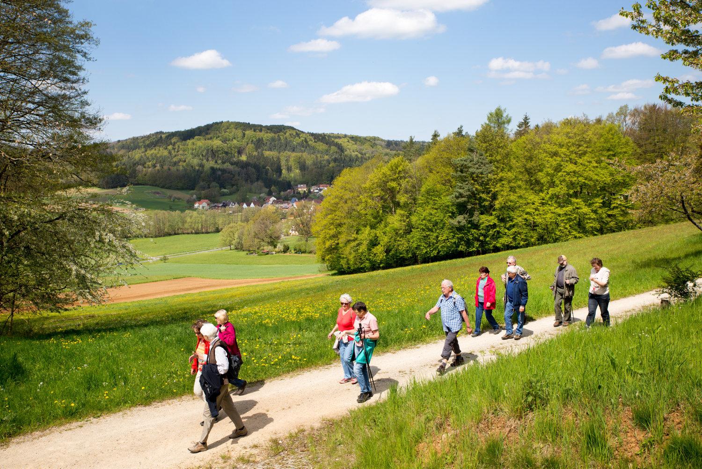 Wanderung von Oberkrumbach nach Kleedorf - Blick auf Aspertshofen